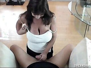 hot brunette reverse cowgirl